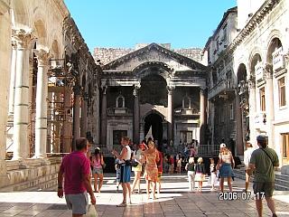 Splitas. Imperatoriaus Diokletiano rūmai